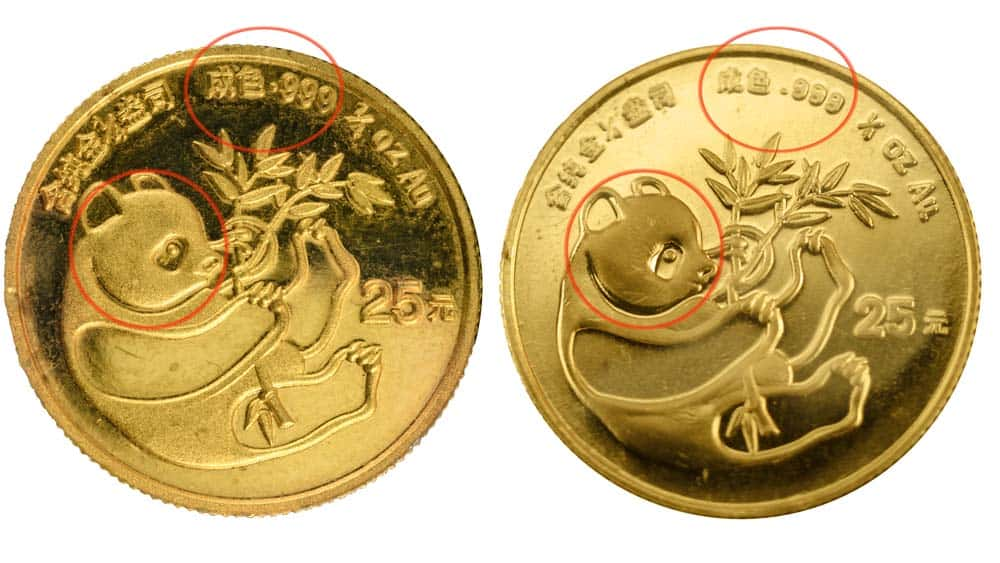 real vs fake gold coins
