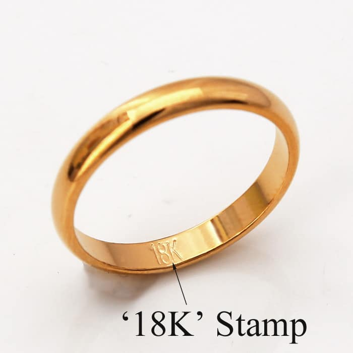 gold ring with 18K stamp