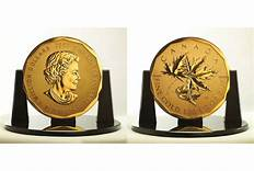 $1 Million Gold Canadian Maple Leaf Coin