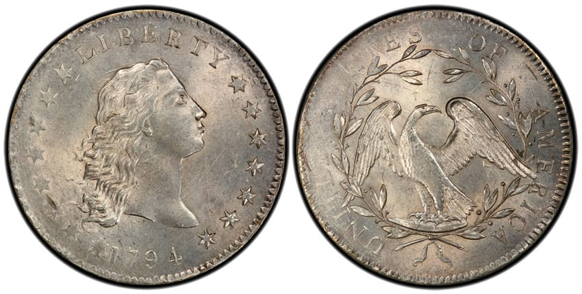 1794 Flowing Hair Silver Dollar Coin
