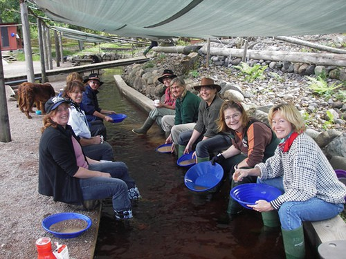 group of people Panning for gold